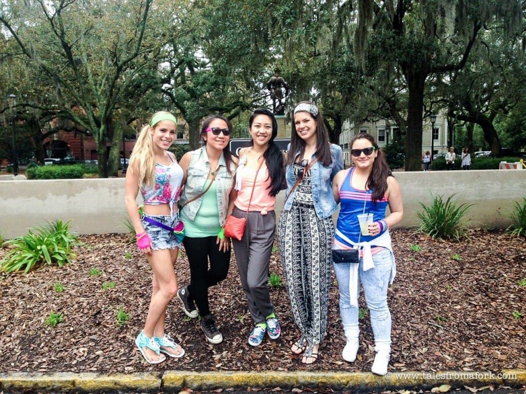 how to have the best bachelorette party in savannah bachelorette party savannah www.fromlusttilldawn.com from lust till dawn savannah taste experience 80s outfit