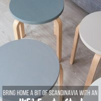 Bring home a little Scandinavian design with this IKEA Frosta Stool Makeover. Find out how to do this easy DIY project.