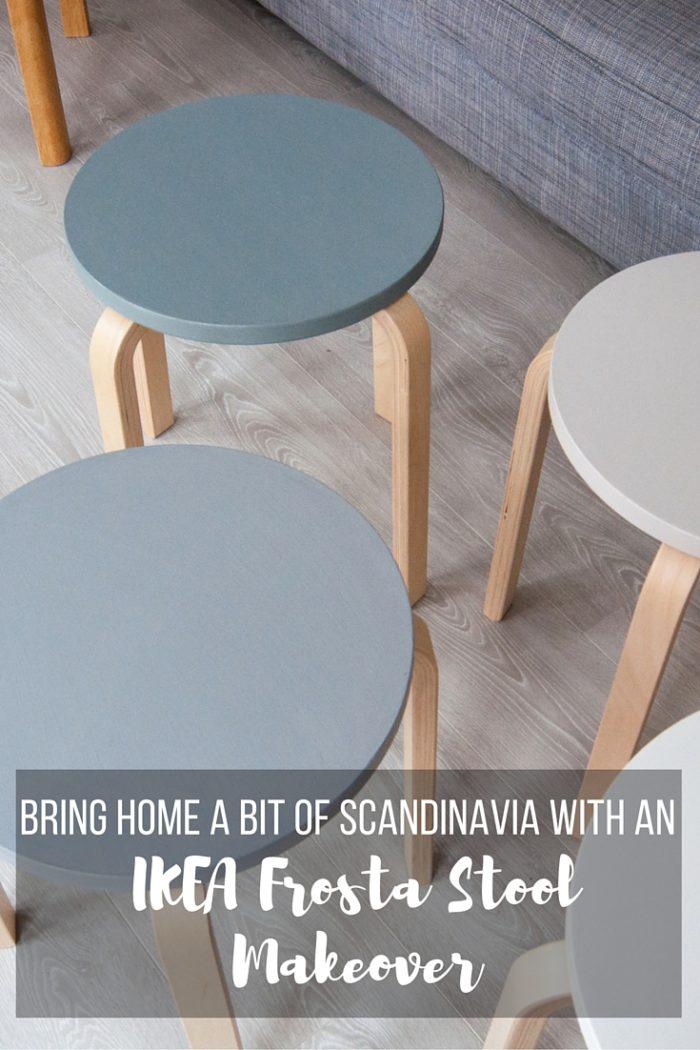 Easy Scandinavian IKEA Frosta Stool Makeover