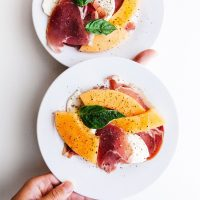 travel cooking class peaches salad