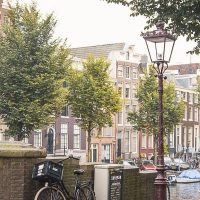 second hand bikes in amsterdam on a canal