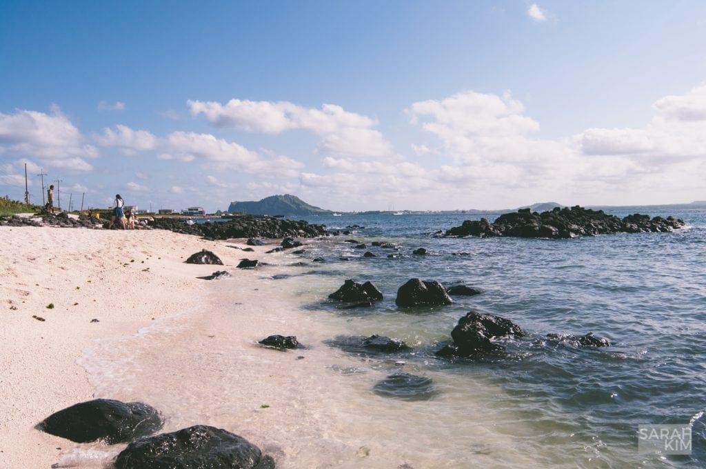 udo island beach pure beautiful jeju island islet isolated