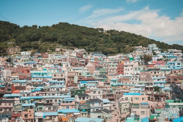 Wandering in Gamcheon Culture Village in Busan is one of the best things to do in Korea