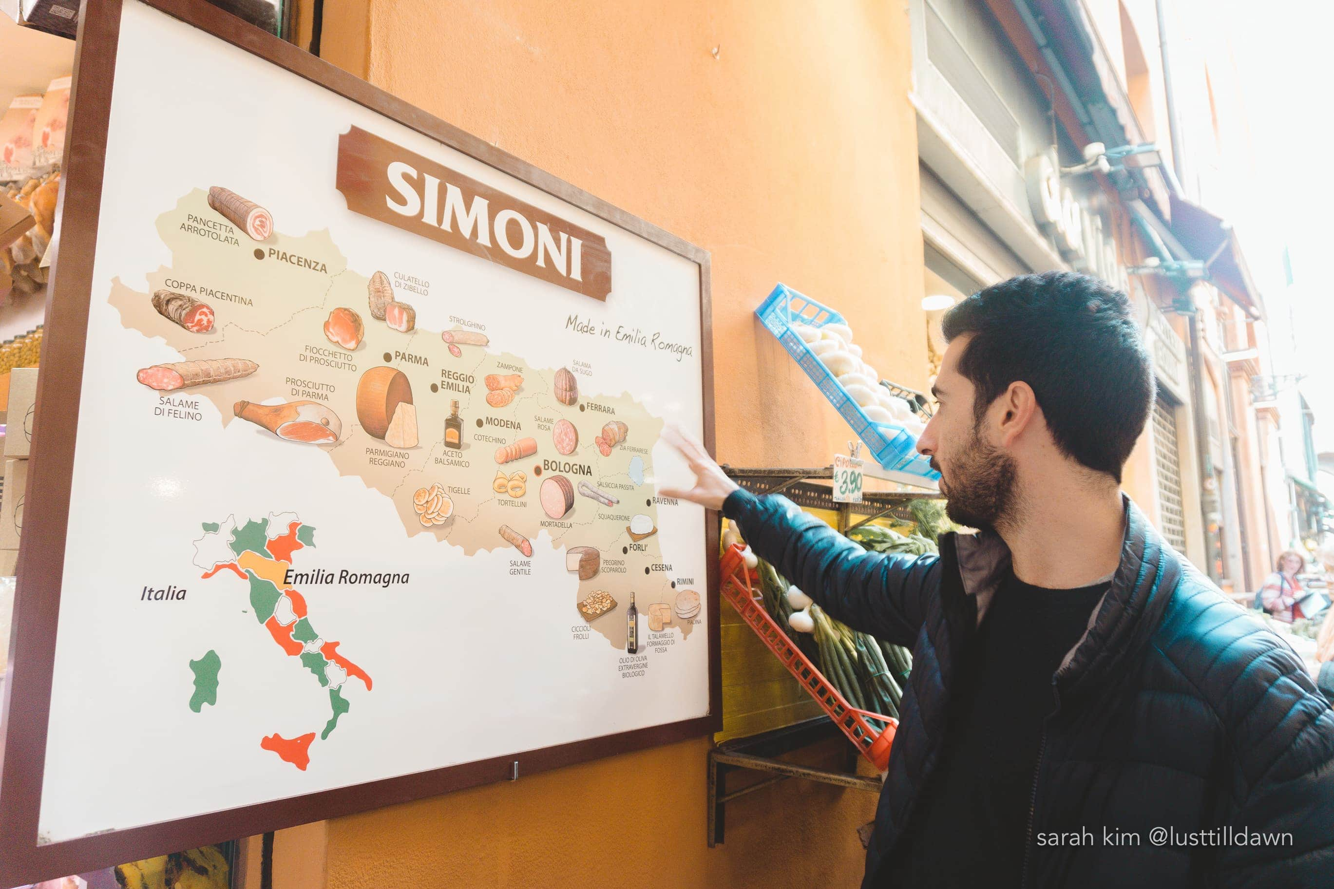 map of bologna food tour in bologna delicious bologna