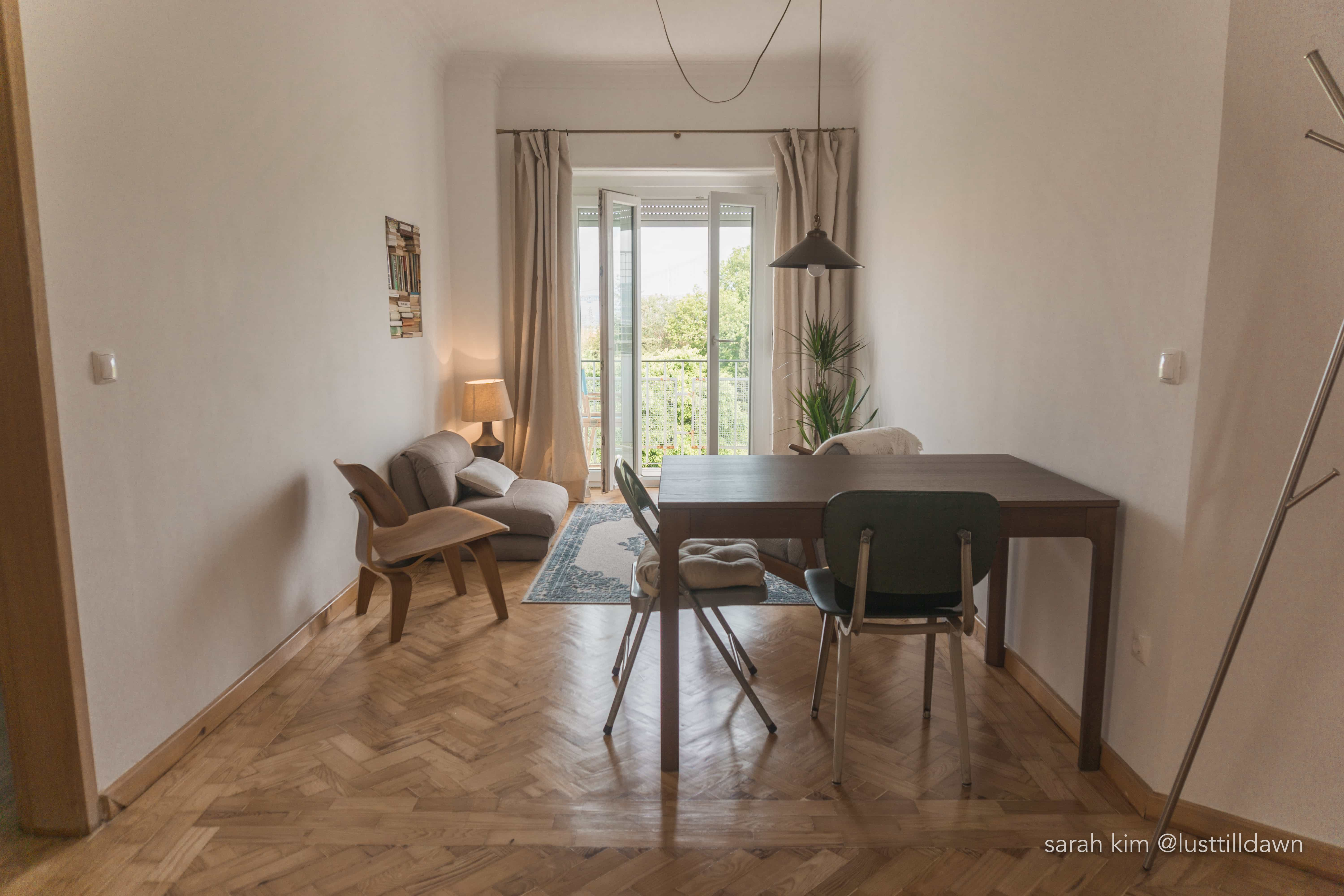 inside view of best airbnb in lisbon