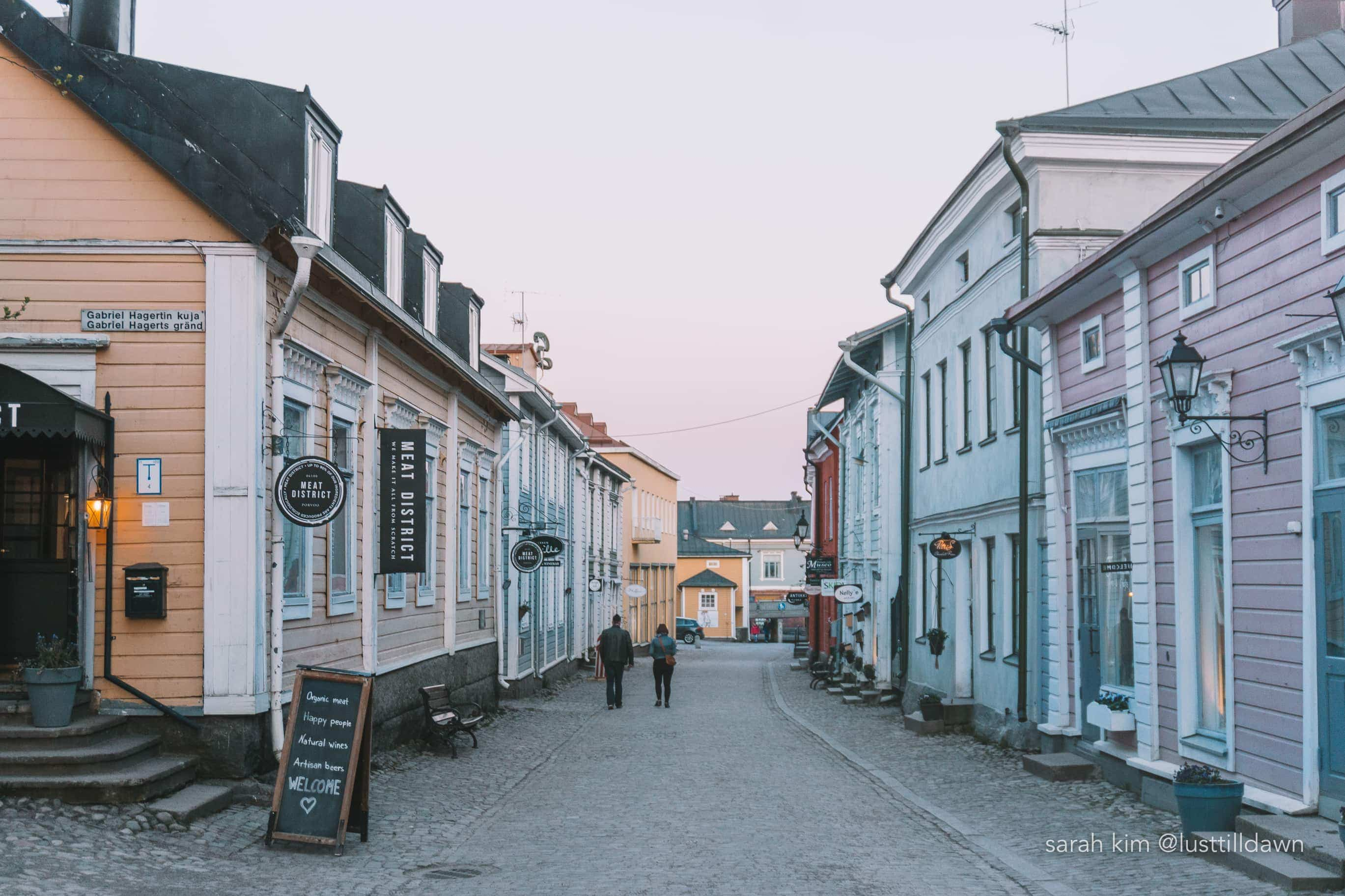 Porvoo is a medieval town in Finland, which is one of the must go on day trips from Helsinki.