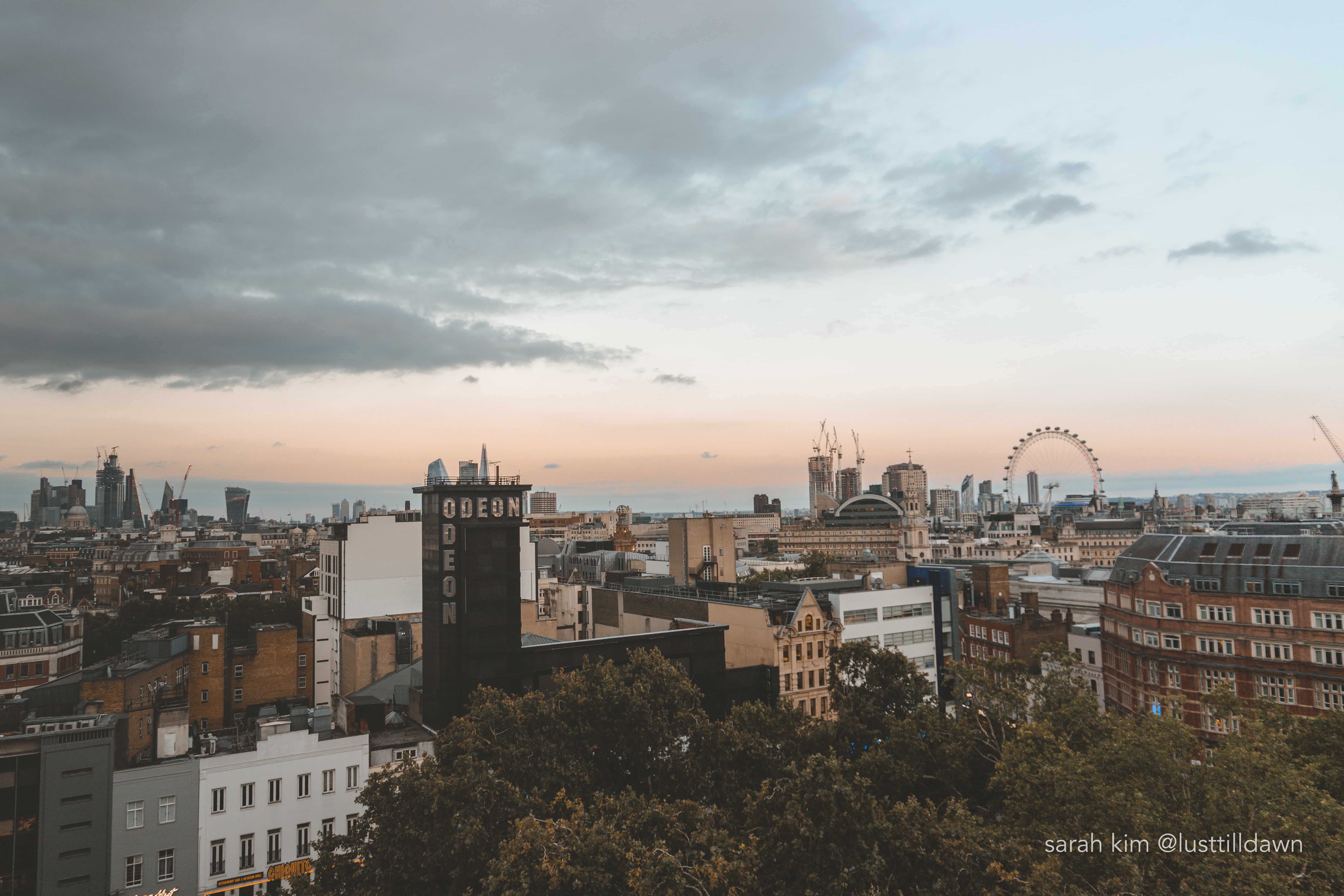 hotel indigo leicester square view of london