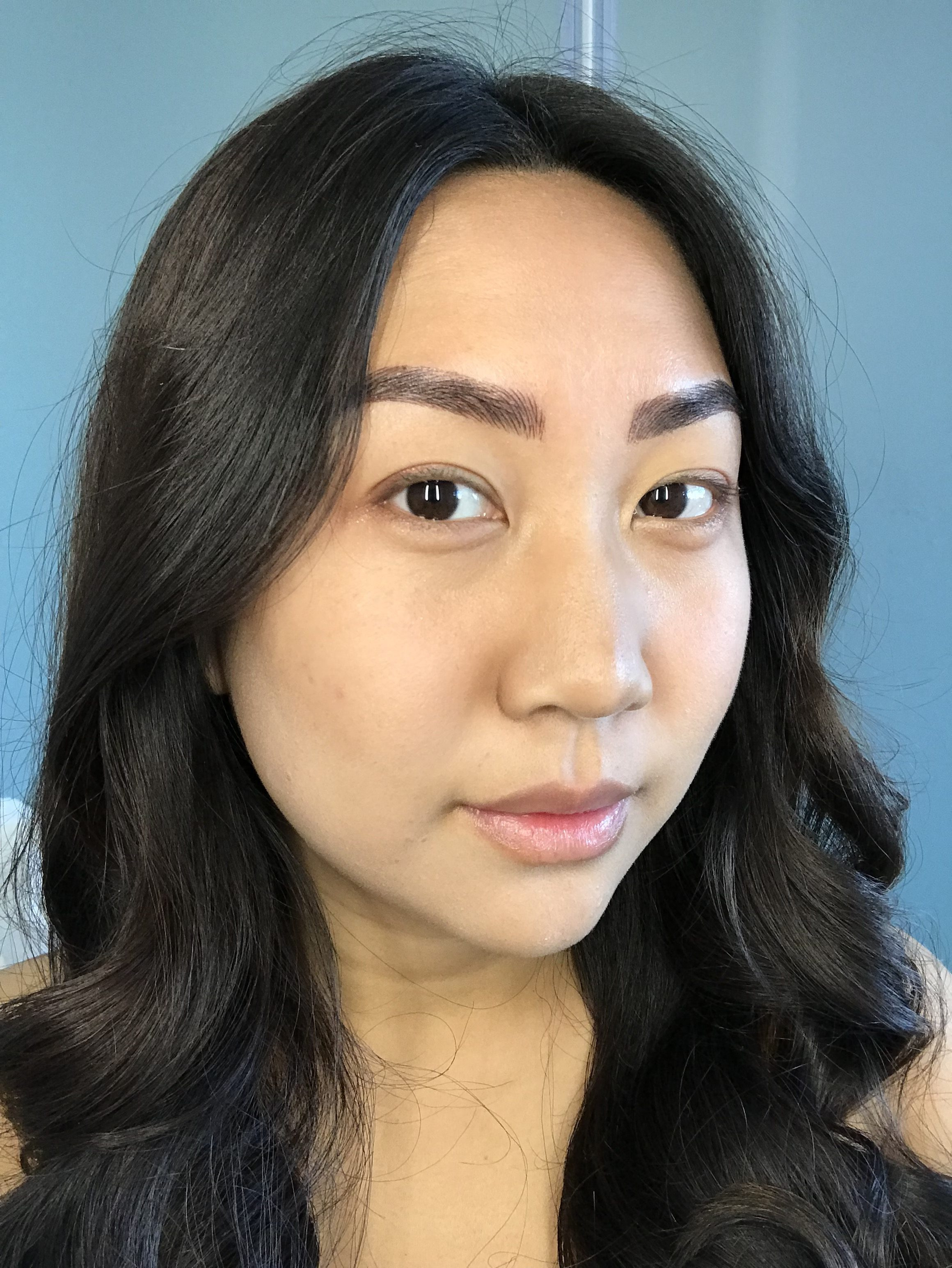 what eyebrows look like four to five days after best microblading NYC