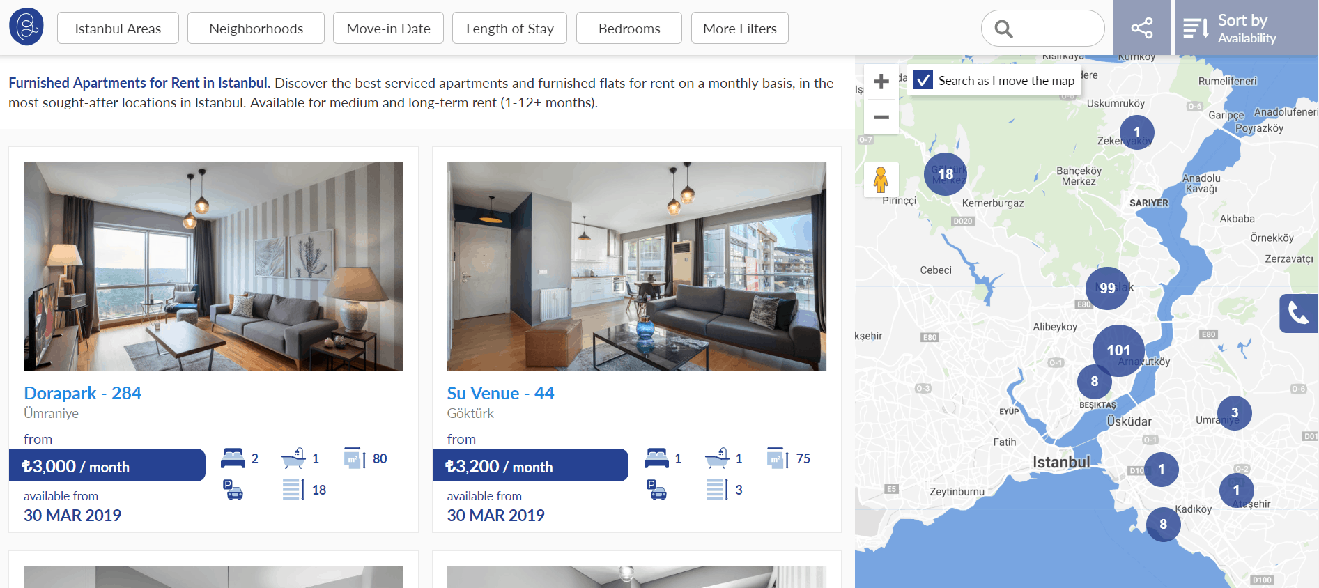 furnished apartment for rent in istanbul