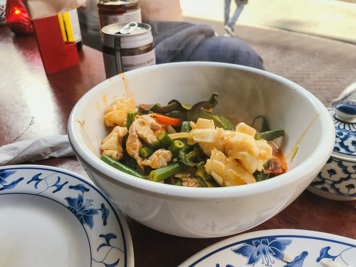 Seafood dish at Thaise Snackbar Bird | from post Best Restaurants in Amsterdam by travel blogger Sarah Kim of From Lust Till Dawn