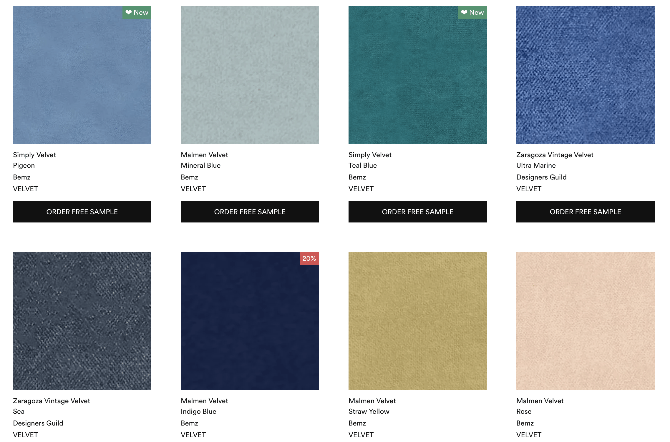 bemz five free samples for custom IKEA sofa covers