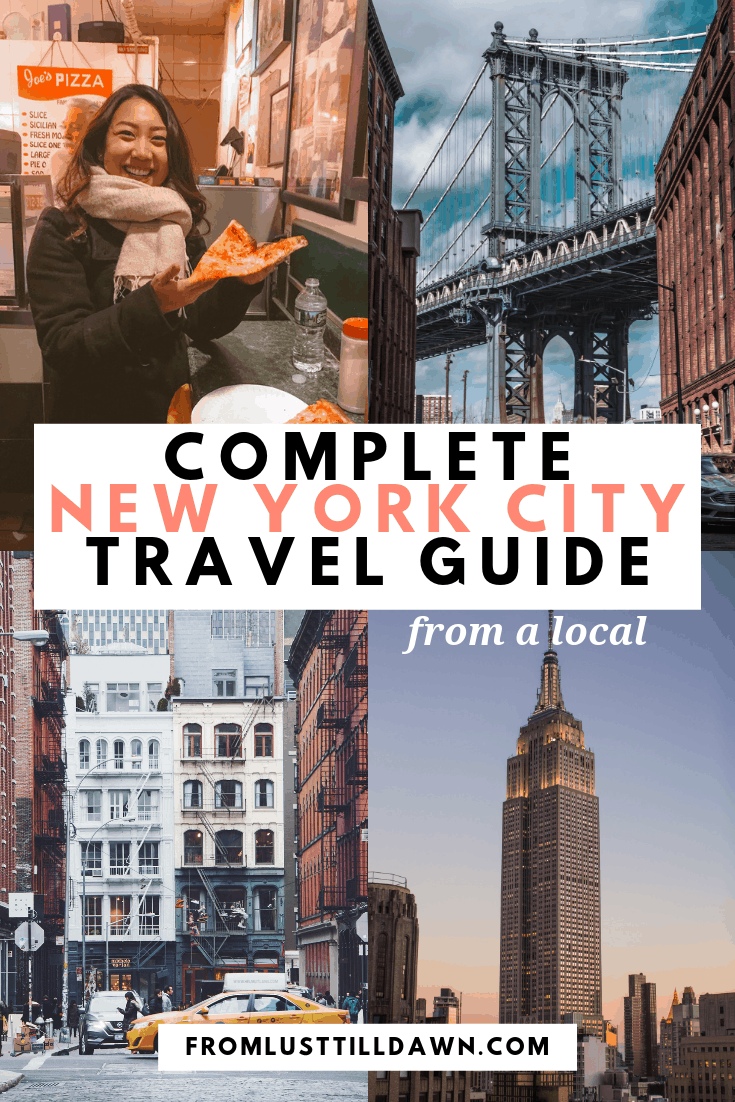 complete new york city travel guide pin