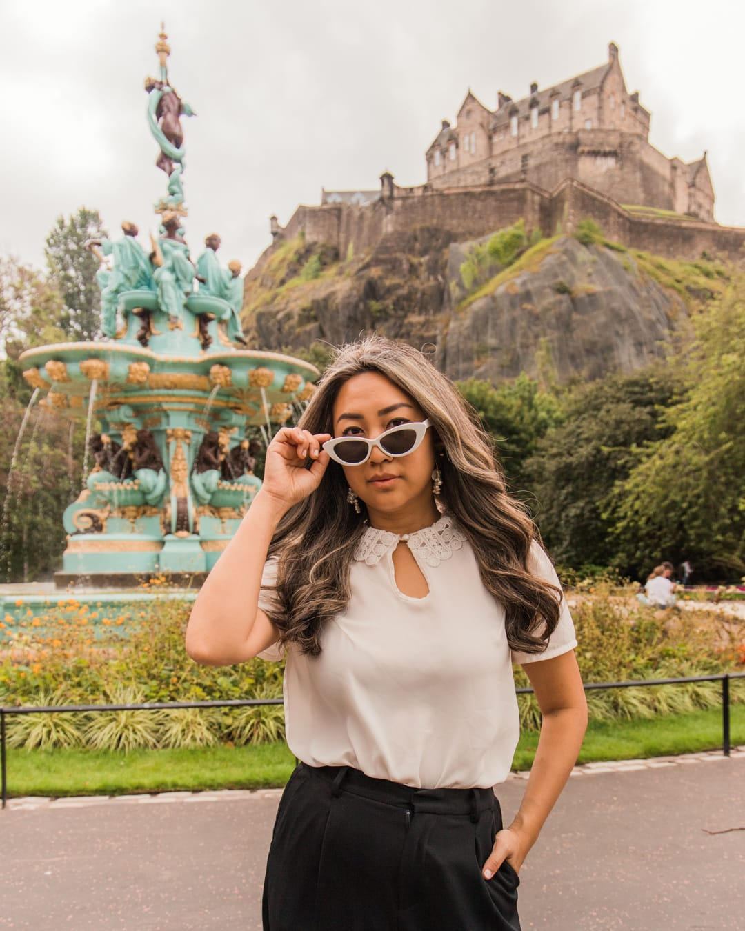 Ross Fountain, one of the most Instagrammable places in Edinburgh
