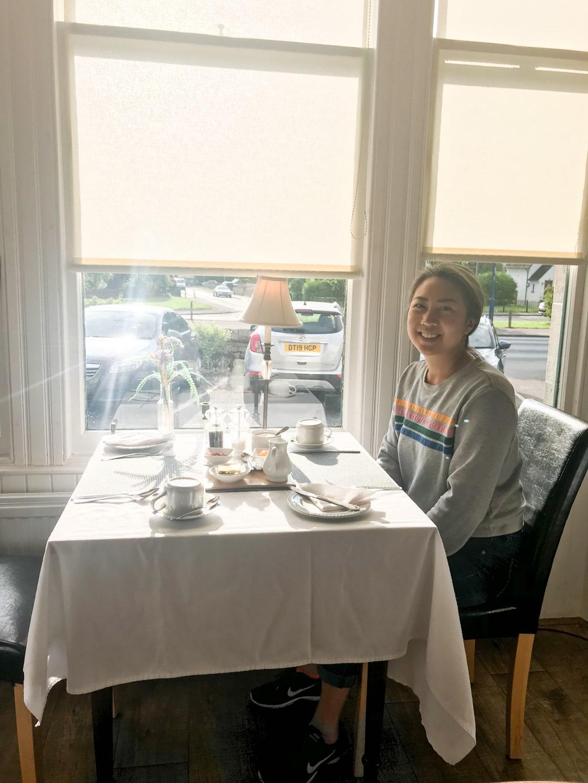Enjoying breakfast at Cairngorm Guest House