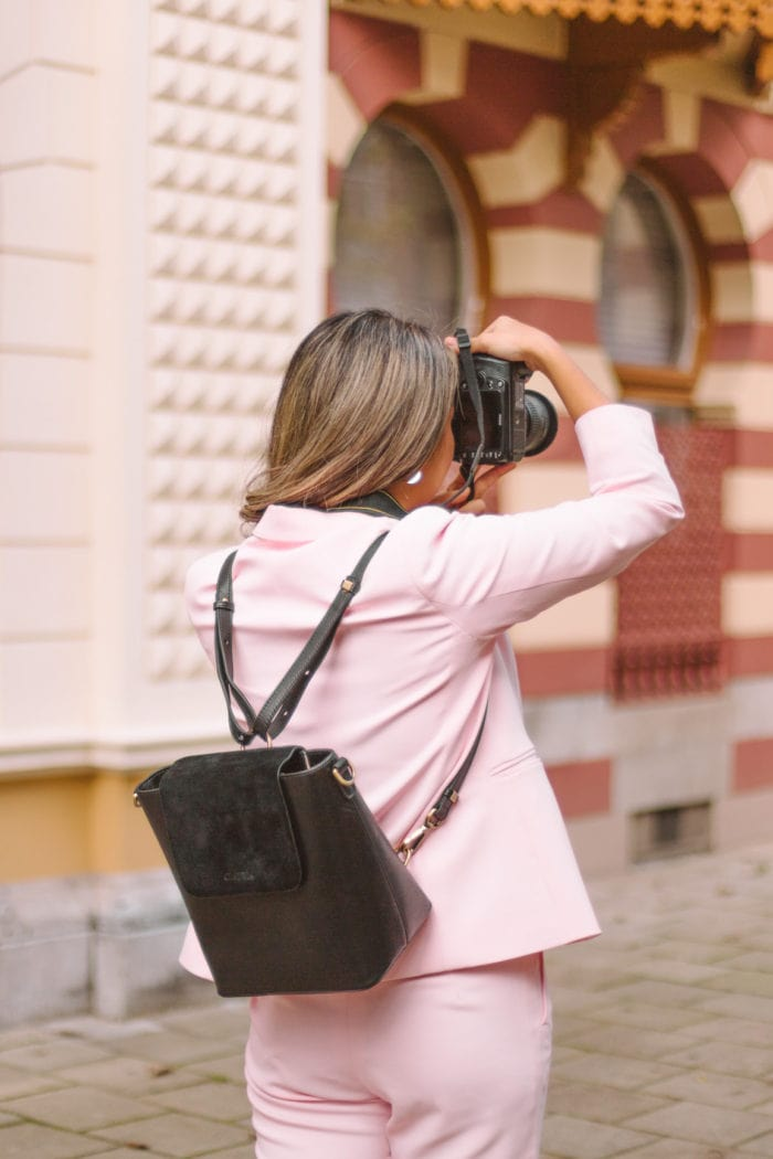 A Travel Camera Backpack for Women That's Actually Stylish AND Functional