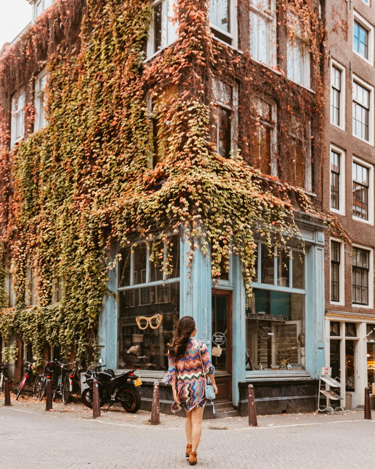 beautiful place to take a photo in the fall time in Amsterdam instagrammable places in Amsterdam