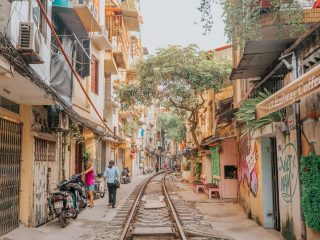 train track in hanoi - vietnam travel tips