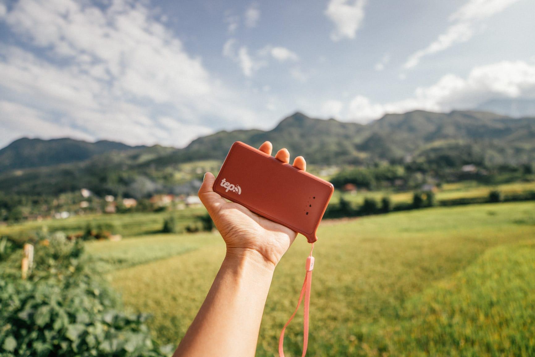 tep wireless used in Sapa rice fields vietnam | vietnam travel tips