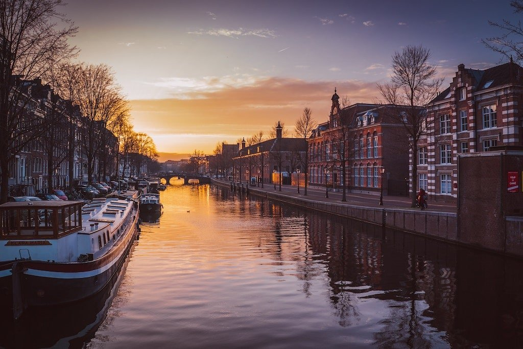 Take a Sunset Boat Ride in the Canals on Valentine's Day in Amsterdam