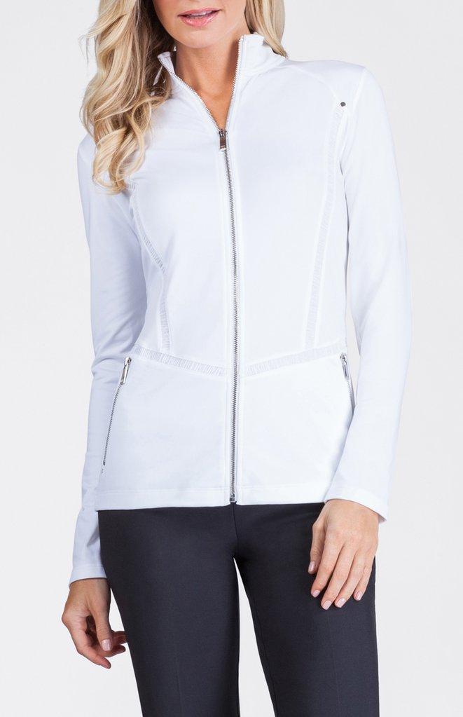 white golf jacket