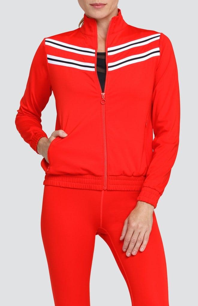 red golf jacket
