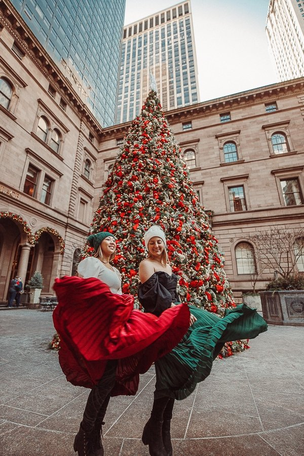 christmas photo in nyc