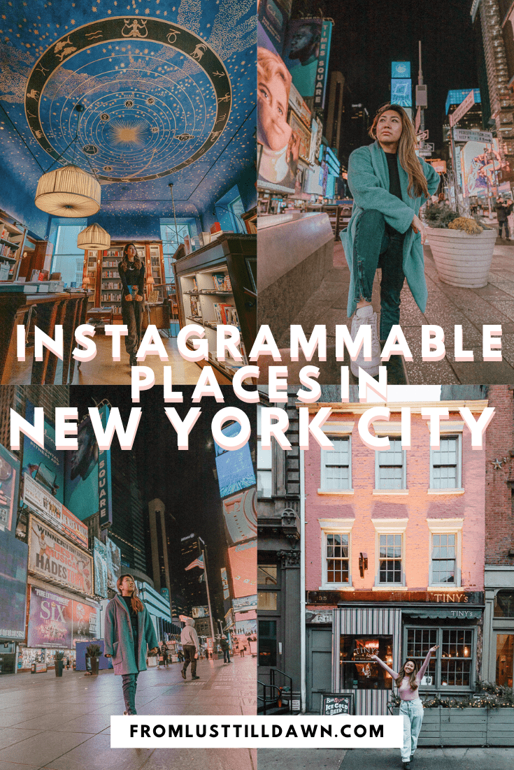 instagrammable places in NYC pinterest graphic