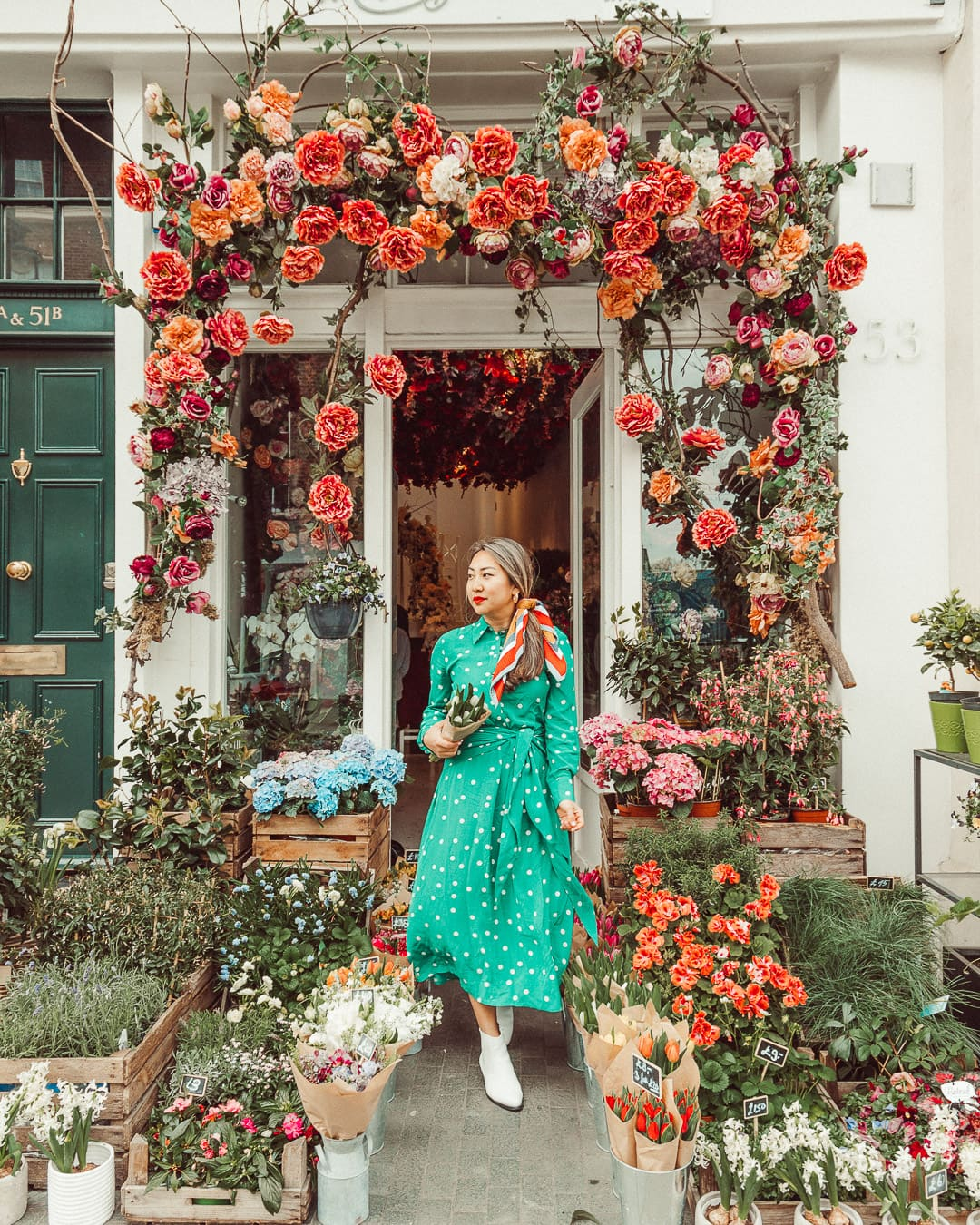 most instagrammable places in london covered in flowers