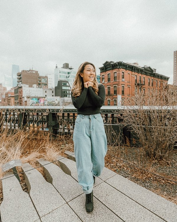 woman at highline park, one of the best nyc instagram spots