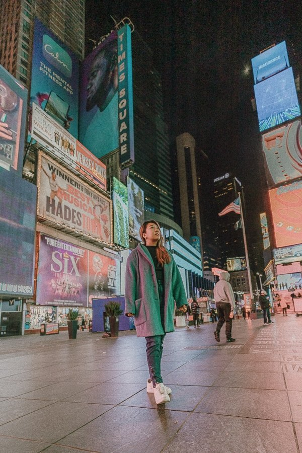 Times Squares at nighttime - Going to Times Square after 10PM is one of the best local New York City tips.