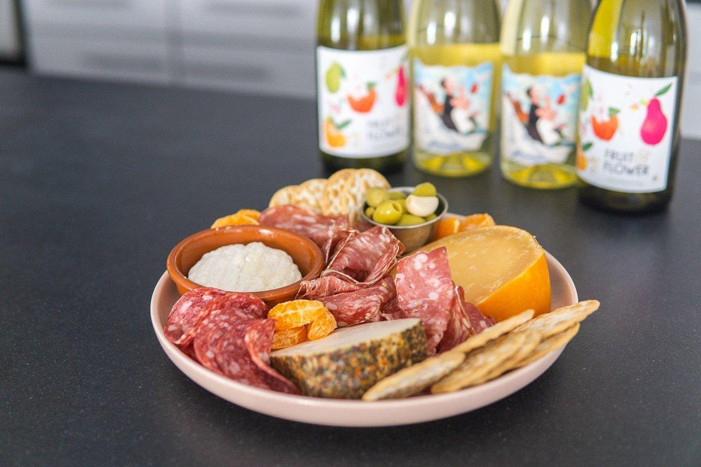 food for wine tasting at home, home wine tasting