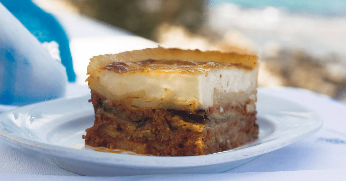 Moussaka is one of the must try food and drink in Greece.