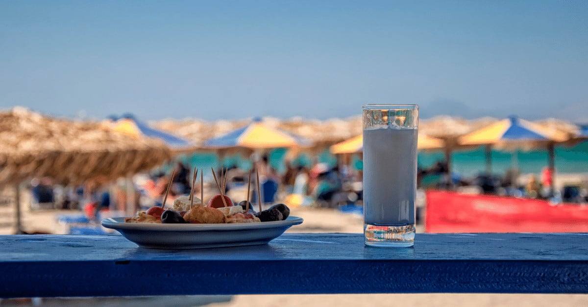 Ouzo is one of the must try food and drink in Greece.