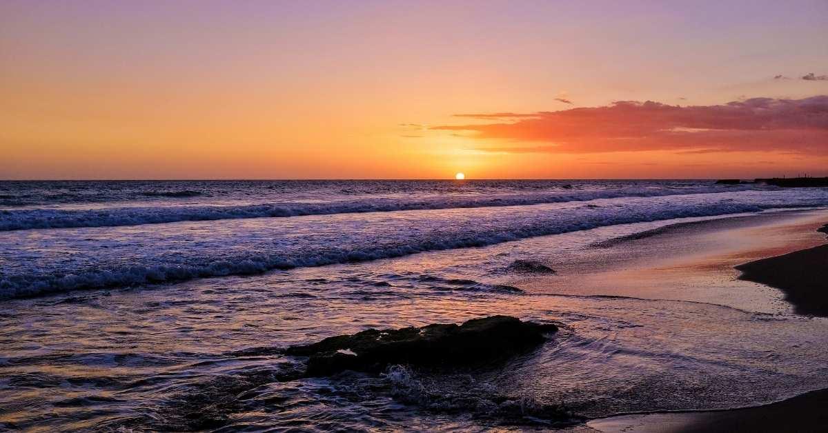Sunset at Treasure Beach, one of the best hidden gems in Jamaica