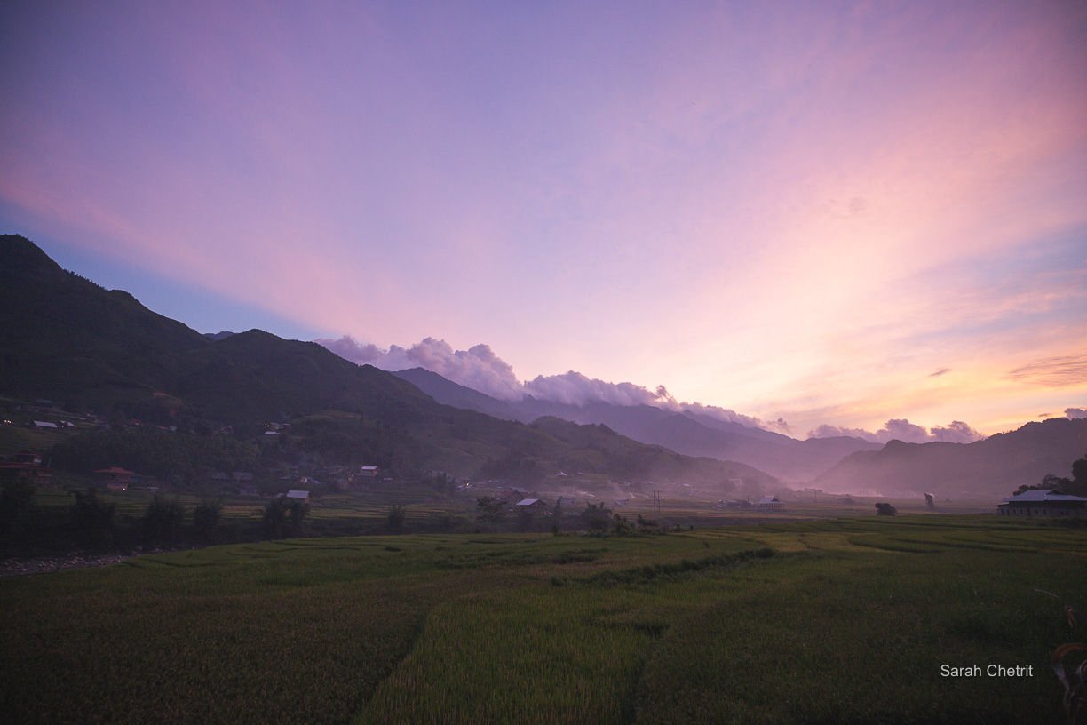 best hotel in sapa with view of the rice fields and a pool