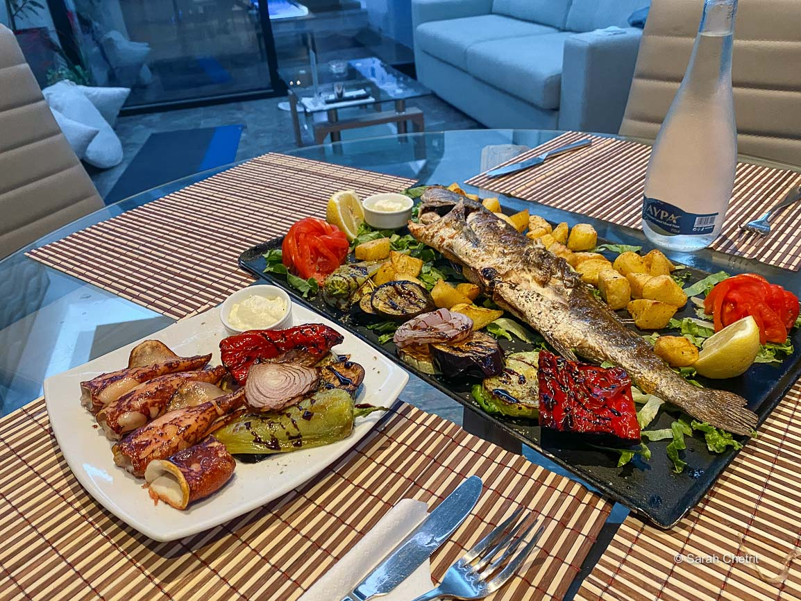 Dinner at Zeus Throne, the best of Corfu hotels with private pools in Corfu Greece